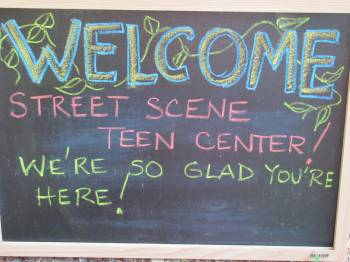 Teen Center - Welcome Sign 2
