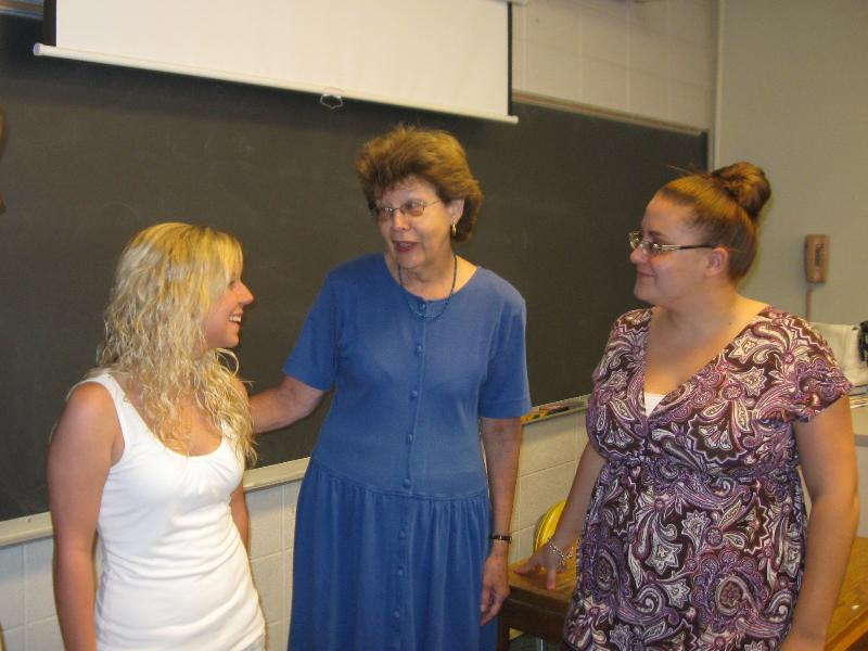 Laura Sadtler with Students