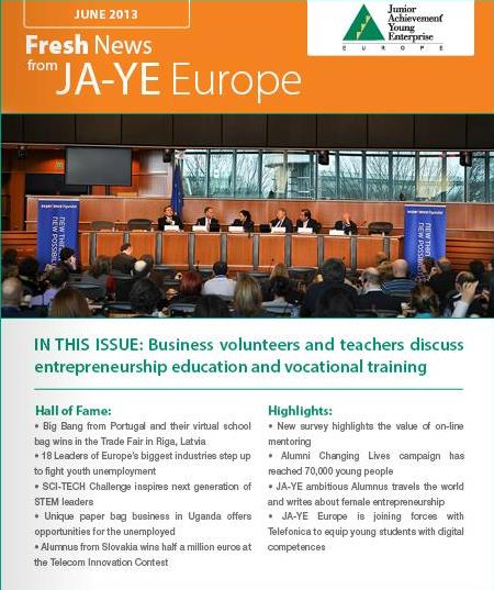 Junior Achievement Young Enterprise Newsletter