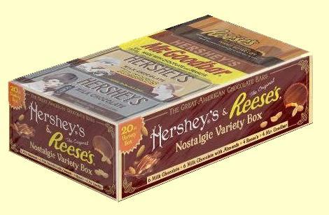Hershey's Retro Candy Bar Box