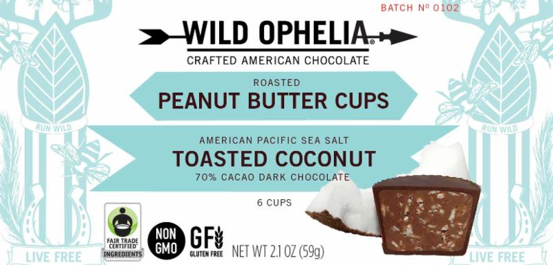 Wild Ophelia Peanut Butter & Toasted Coconut Cup