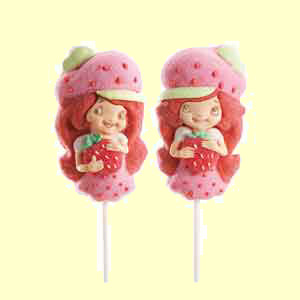 Strawberry Shortcake Marshmallow Pop