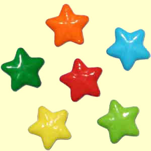 Coated Candy Stars