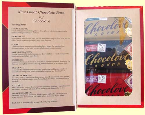 Chocolove Gift Book Inside
