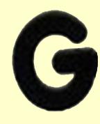 Candy Alphabet 'G'