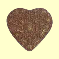 Chocolate Lace Heart