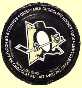 Pittsburgh Penguin Chocolate Crunch Puck