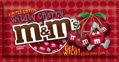 Wildly Cherry M&Ms