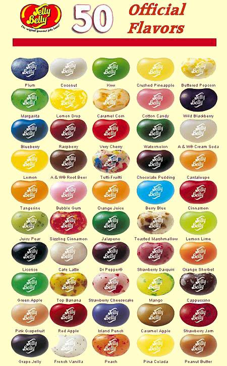Jelly Belly 50 Flavors
