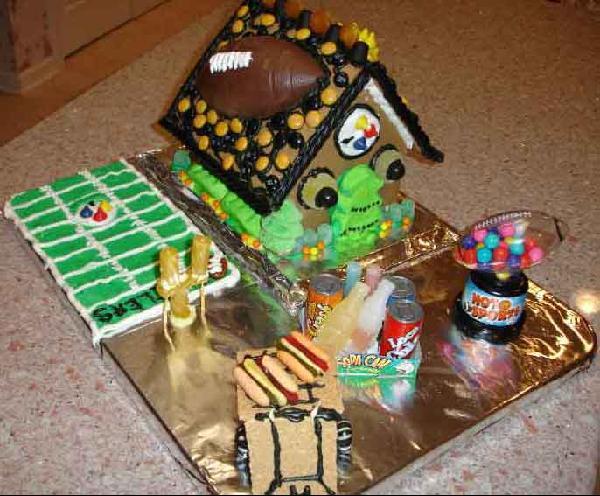 Steeler Gingerbread House