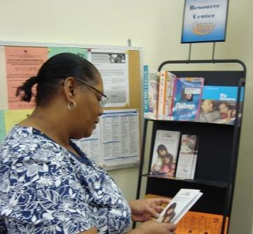 parent using Resource Center