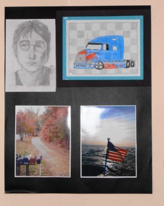 Sampling of Teen Art Contest entries