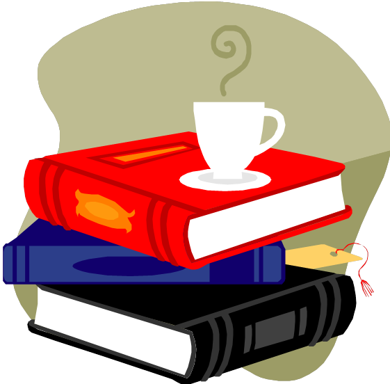 coffe cup on stack of books