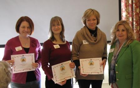 Branch managers accepting donation certificate