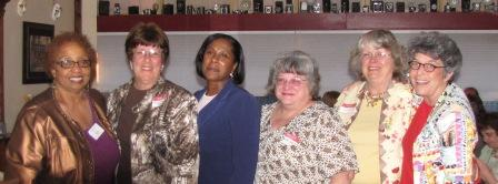 Library Board members and Louise Snell