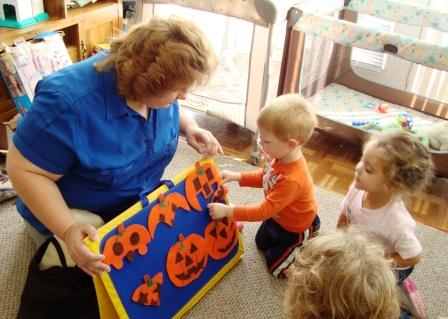 Storytime at childcare provider