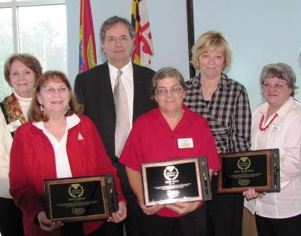 Staff with awards