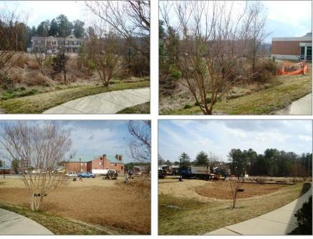 before and after photos of LexingtonPark LIbrary