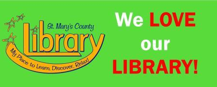 We love our library banner