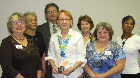 Karen Boyd and members of Library Board
