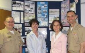 Master Chief William Lloyd-Owen, Joan Bauk, Dr. Julia King and Captain Ben Shevchuk