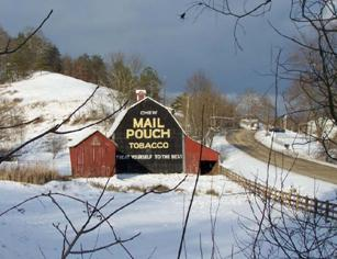 Mail pouch barn.