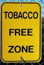 tobacco free zone sign