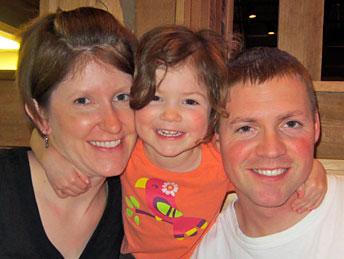 Blake Hansen and family