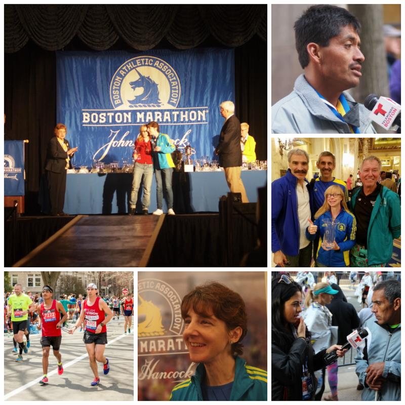 A photo collage of the 4 Team With A Vision runners to place in their Divisions