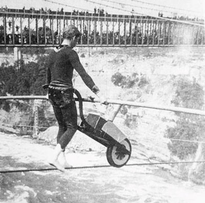 Wheelbarrow Over Niagara Falls