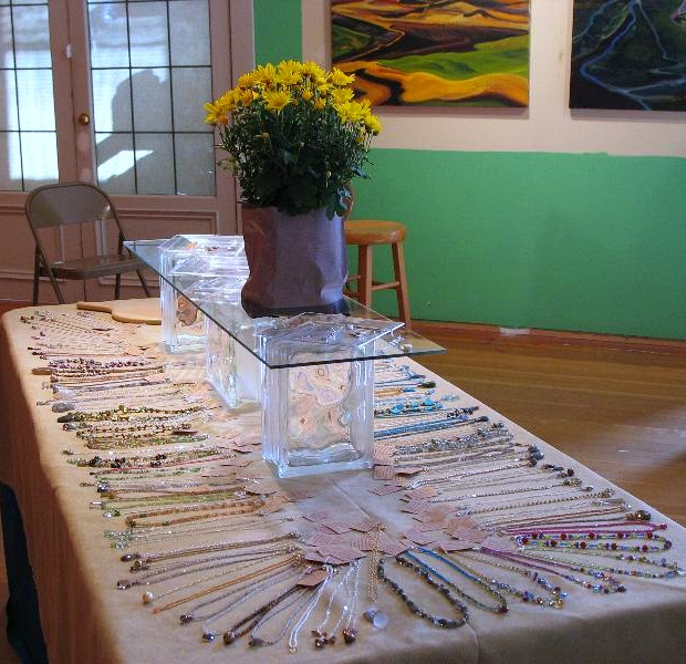 Part of set up for Kristin Ford Event