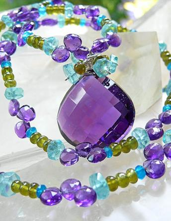 Kristin Ford Necklace with Amethyst Center