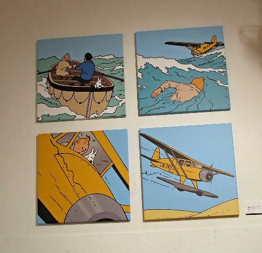 Tintin Event - Plane Canvases