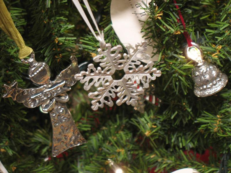 Coseup of Pewter Ornaments