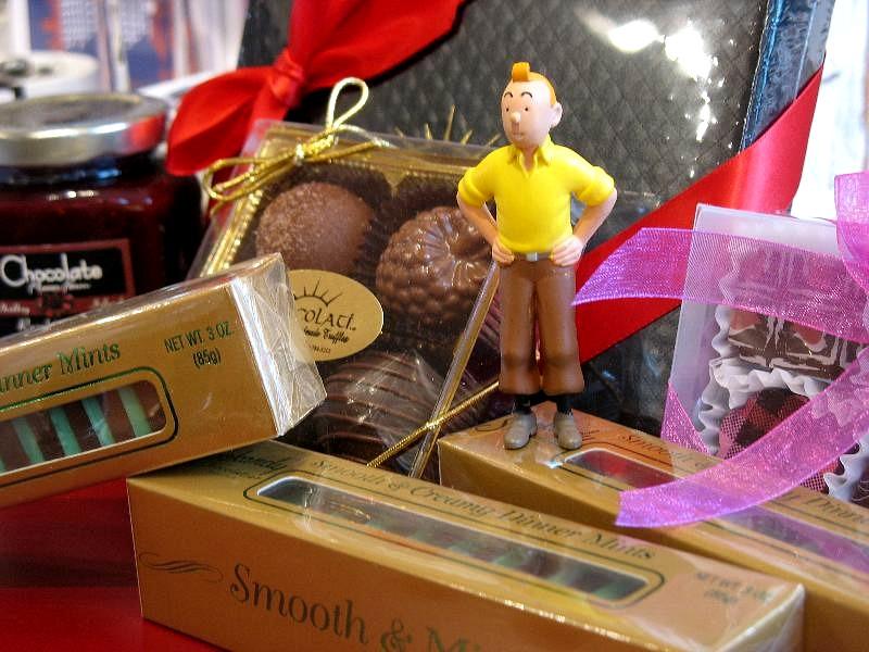 Tintin w/ Chocolates