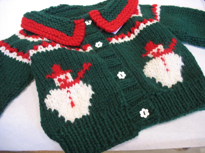 Green Sweater w/ Snowmen