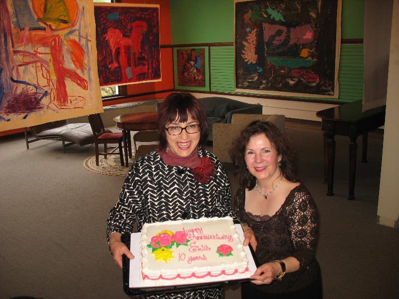 Ewa & Kathleen with Anniversary Cake