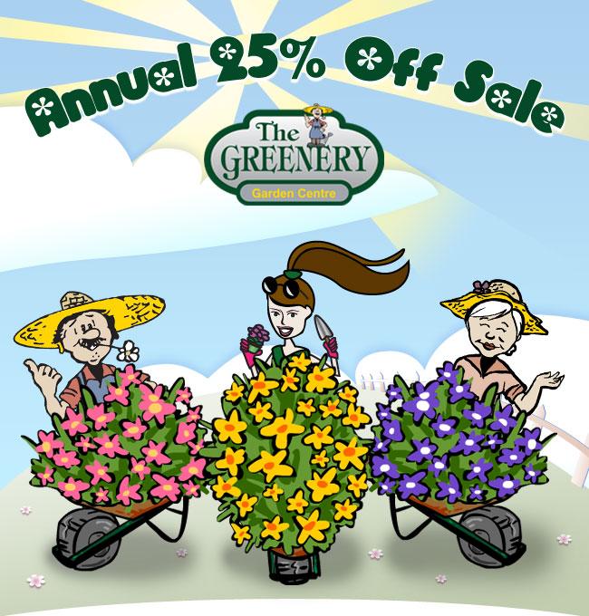 Annual 25% Off Sale Header