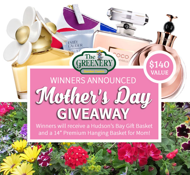 Greenery Mother's Day Givewaway Winners