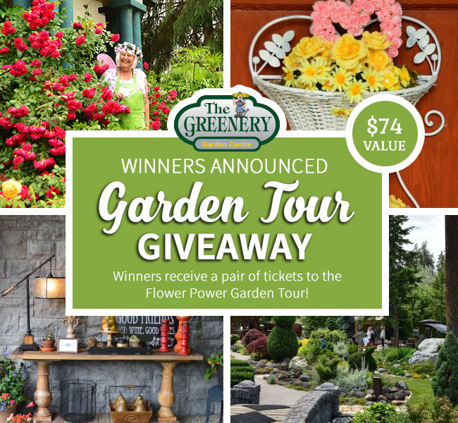 Greenery Garden Tour Giveaway Winners