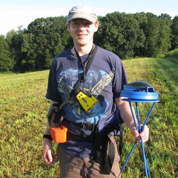 Sasha in the field