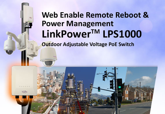 LinkPower LPS1000 Outdoor Adjustable Voltage PoE Switch