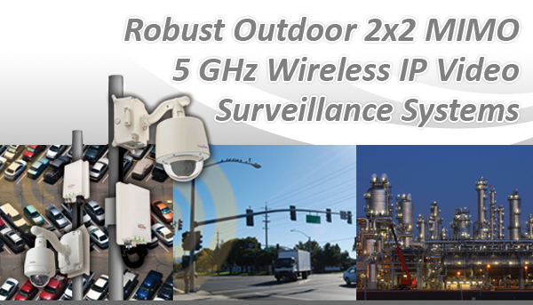 Robust Outdoor 2x2 MIMO 5 GHz Wireless IP Video Surveillance Systems