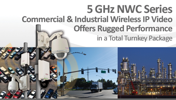5 Gigahertz NWC Series Commercial & Industrial Wireless IP Video