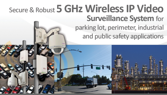 Secure & Robust 5 GHz Wireless IP Video Surveillance System