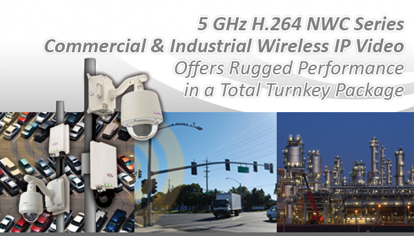 5 GHz H.264 NWC Series Commercial & Industrial Wireless IP Video