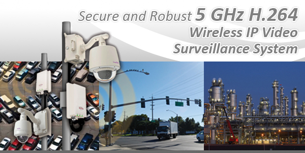 Secure and Robust 5 GHz H.264 Wireless IP Video Surveillance System
