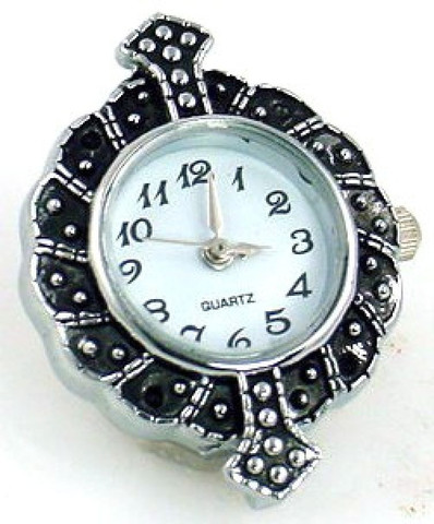Textured watch face for beading