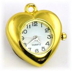 Gold heart watch face