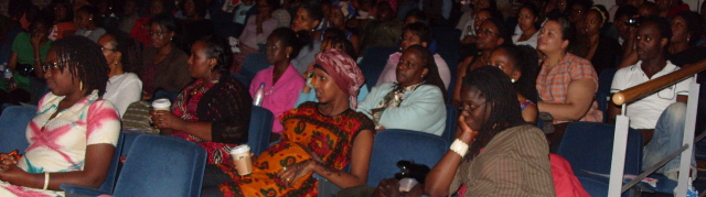 Fascinated audience at previous health event